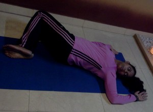 uttana vakrasana  lying down  ojas foundation